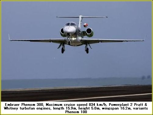 embraer phenom 300 airplane photos