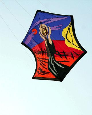 Japanese Rokkaku Kite for light breezes