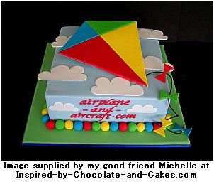 airplane cake kite