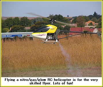 gas RC helicopter, fun to fly